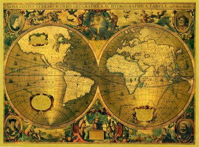 23 best old world map printable images on pinterest antique antique gold world map art prints posters vintage canvas giclees gumiabroncs Gallery