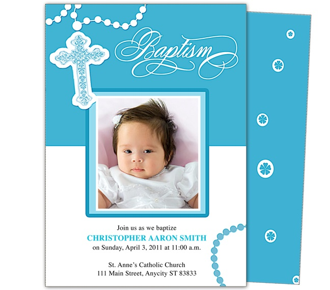 Baby Baptism Christening Invitations Printable Diy Infant Baby