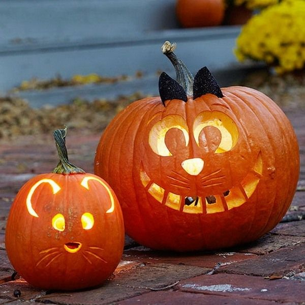 Cute easy pumpkin design pumpkin carving ideas Halloween crafts for ...