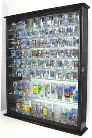 110 Shot Glass Display Case with shelves