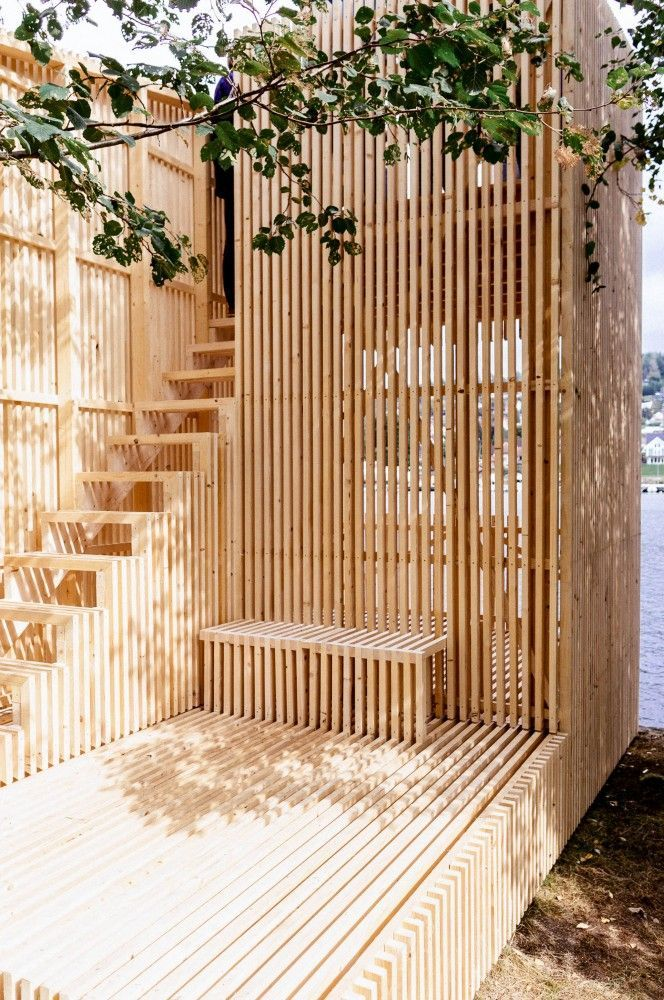 wood slats // privacy