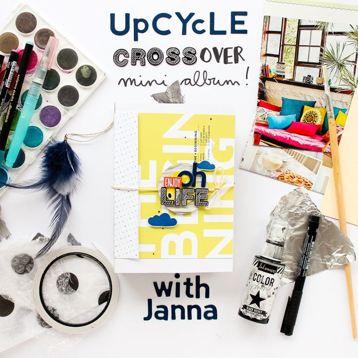 Join now! Upcycled Crossover Mini Album class with @JannaWerner | @BigPictureClasses