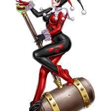 Bishoujo Style Harley Quinn by Shunya Yamashita - DC Comics, Batman, anime, manga