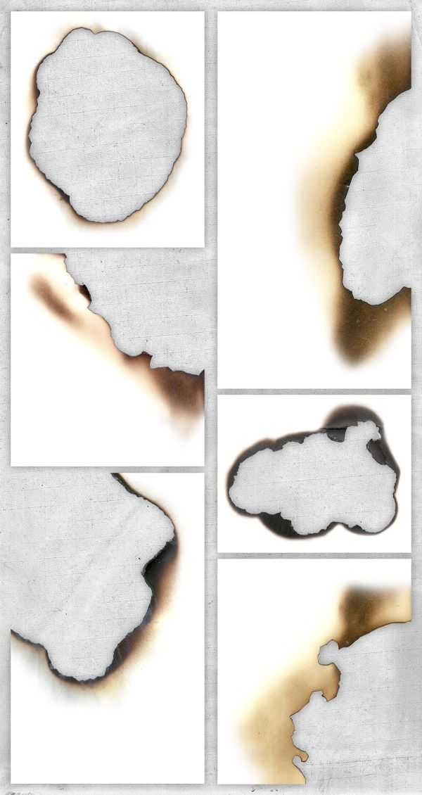 6 Free High Resolution Textures: Burnt Paper Edges