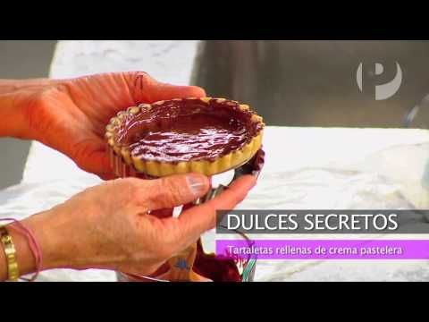 Dulces Secretos - Tartaletas de fresas rellana con crema pastelera - YouTube