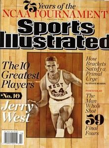 Wvu++Jerry+west | ... Magazine NCAA Basketball Tournament West Virginia Jerry West | eBay
