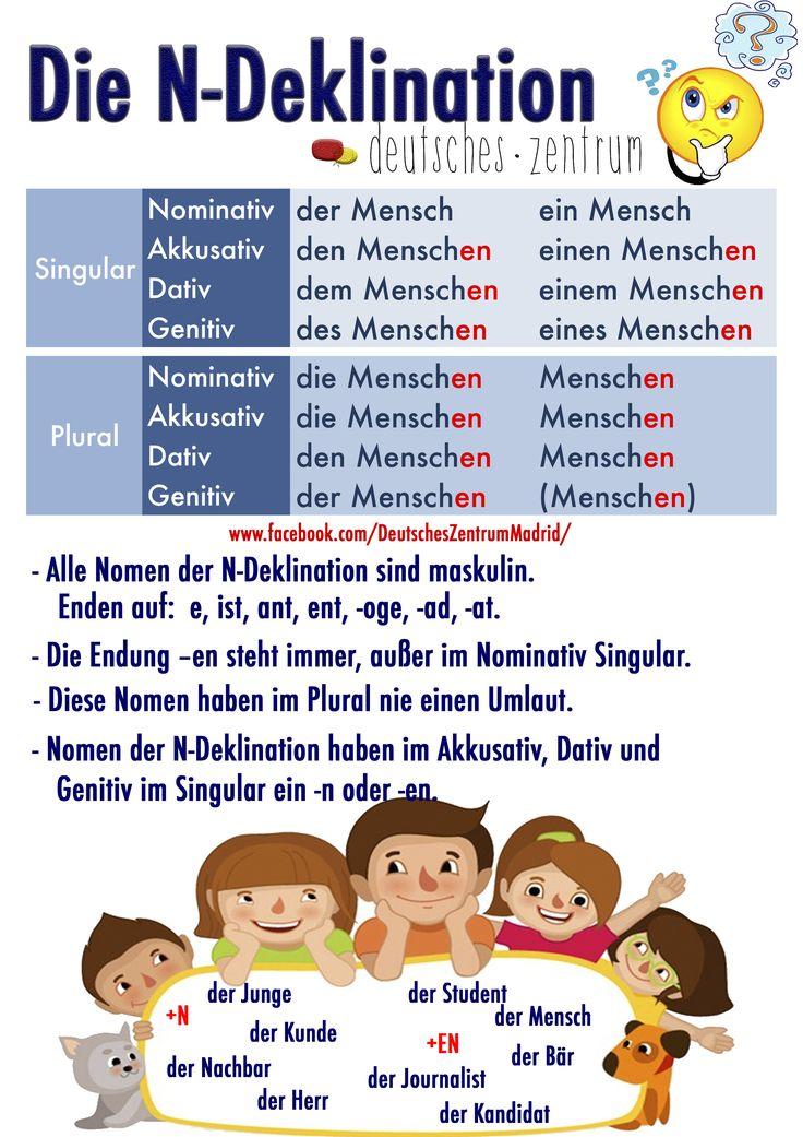 N-Deklination Deutsch Alemán German DAF Grammatik