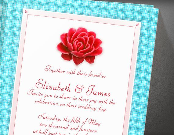 These amazing blue and red invitations for weddings are produced at my house surrounded by the giant redwoods of California. If youre looking to