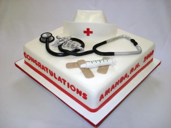 Cake Decorations For Nurses : Nurse cake Dort doktor Pinterest Nurse cakes, Nurses ...