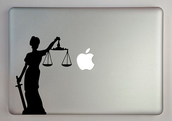 Lady Justice Decal Macbook Laptop by overlyattacheddecals on Etsy, $10.99  Law, Lawyer