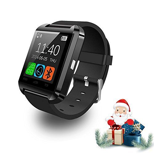 Relee U8 Bluetooth Smart Wrist Watch Phone Mate with Iphone Android Samsung HTC LG (Black) *** Learn more by visiting the image link.