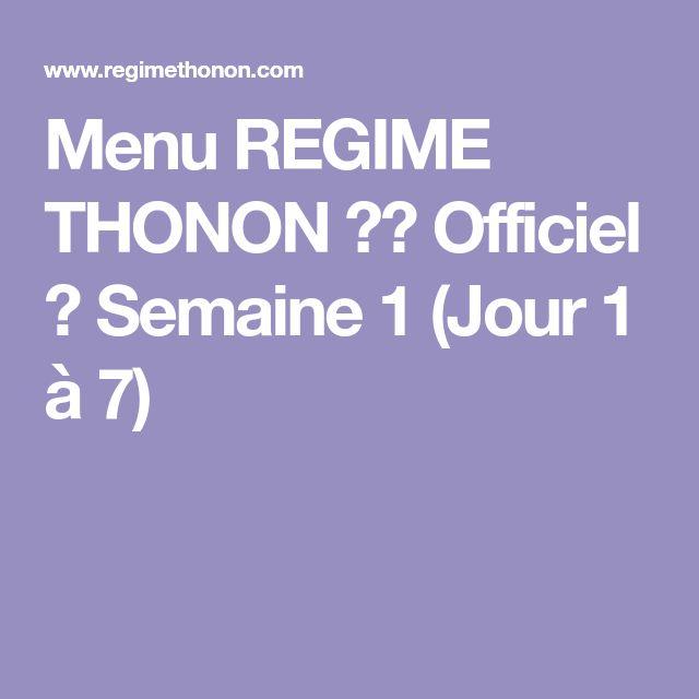 Berühmt Les 25 meilleures idées de la catégorie Regime thonon menu sur  YZ98