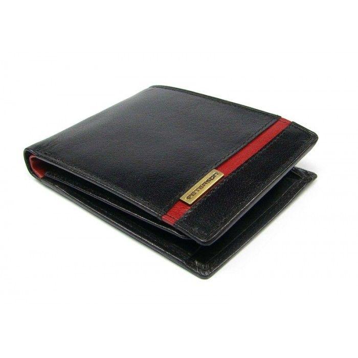 Tmavá peněženka kožená pánská - peněženky AHAL
