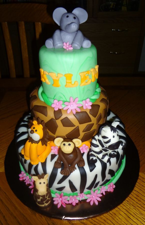 Jungle Theme Cakes Birthday
