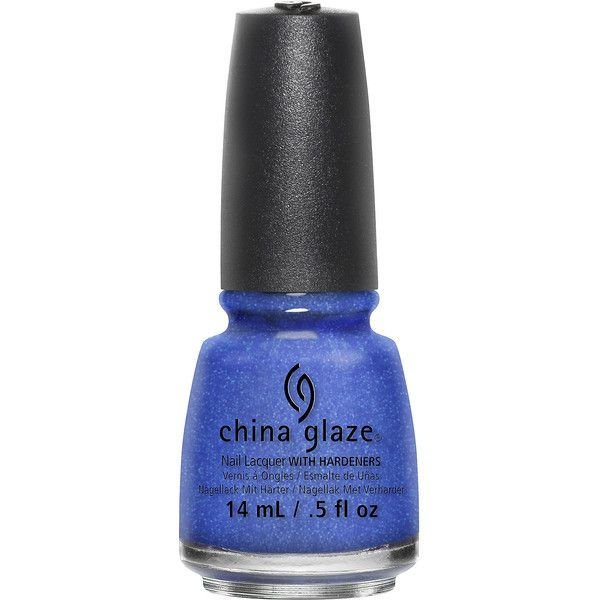 China Glaze Frostbite Nail Polish - .5 oz. ($7.50) ❤ liked on Polyvore featuring beauty products, nail care, nail polish, no color, neon blue nail polish, china glaze nail color, blue nail polish, neon nail polish and china glaze nail polish