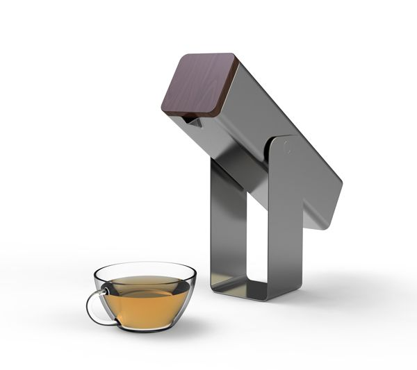 A teapot with a modern look. Easy to carry around with you while on the go. #teapot #tea #YankoDesign