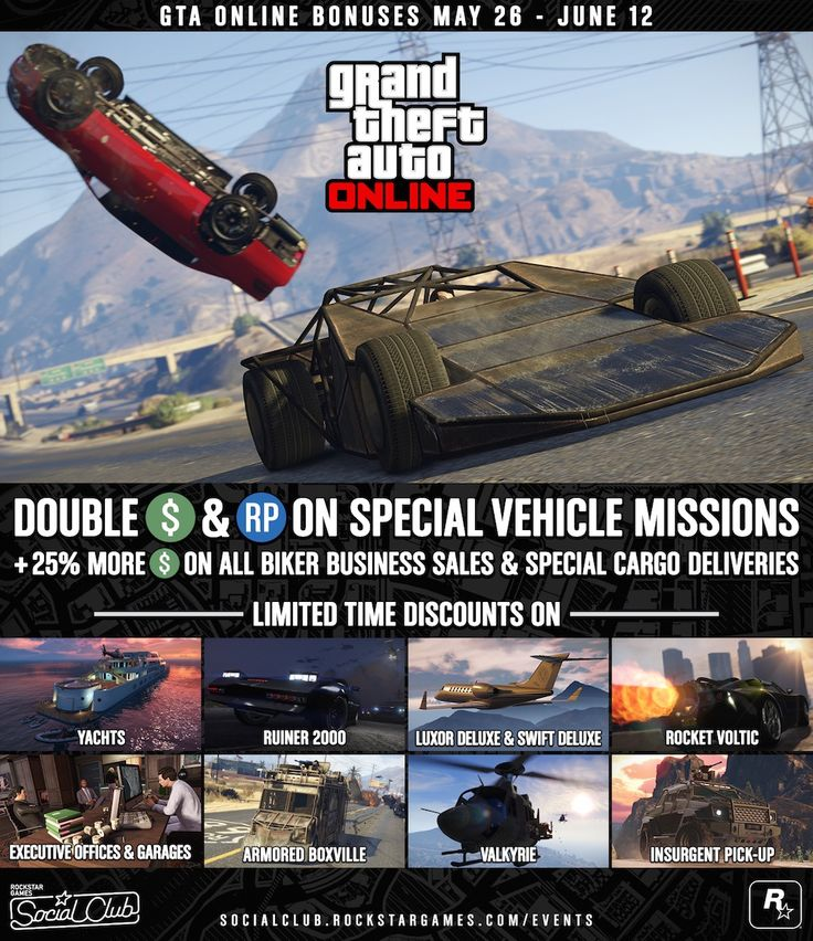 #GTAOnline #GTA5 – GTA 5's Online mode gets limited time discounts and bonuses : Grand Theft Auto 5 developer Rockstar Games has announced a new limited time event for the popular GTA Online game mode. Over the next two weeks, players are being treated to a number of in-game discounts and bonuses, giving them the chance …