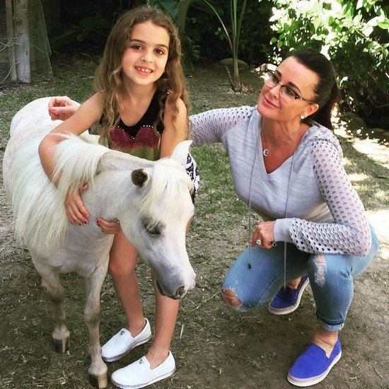 Reality TV stars show off their cute family photos on Twitter and Instagram - Kyle Richards, Heather Dubrow, Chelsea Houska, Kendra Wilkinson, and more.