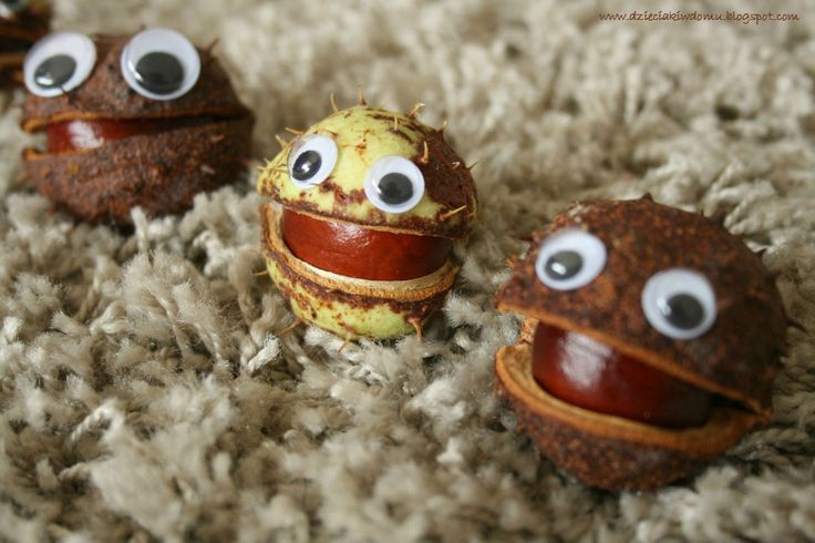 Kasztanowe potworki / conker craft for kids