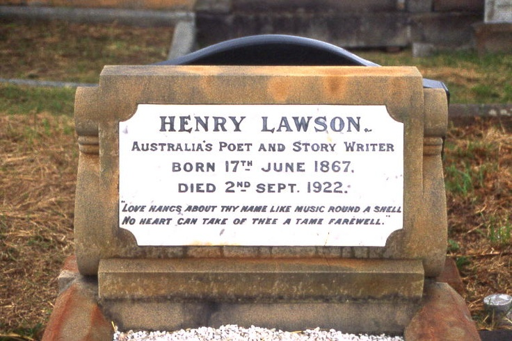 Grave of Henry Lawson, Australia's poet and story writer
