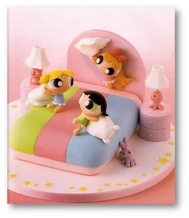 Pastel de las chicas súper poderosas para las nenas de la casa.