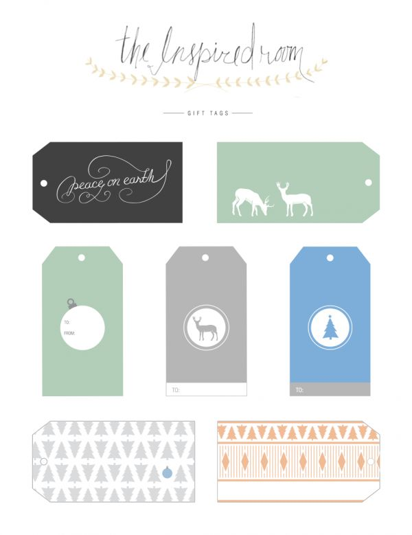 graphic gift tags via The Inspired Room