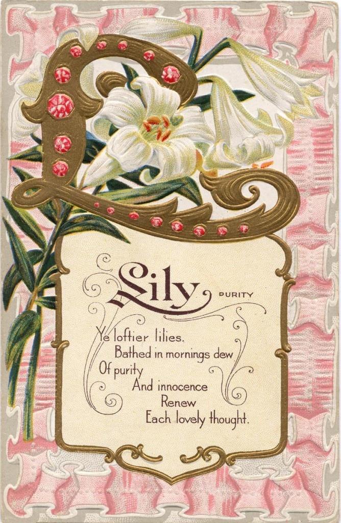 .: Vintage Postcards, Vintage Image Photos, Image Vintage, Lilies Poems, Easter Cards, Vintage Easter, Vintage Floral, Antiques Vintage Cards, Vintage Lilies