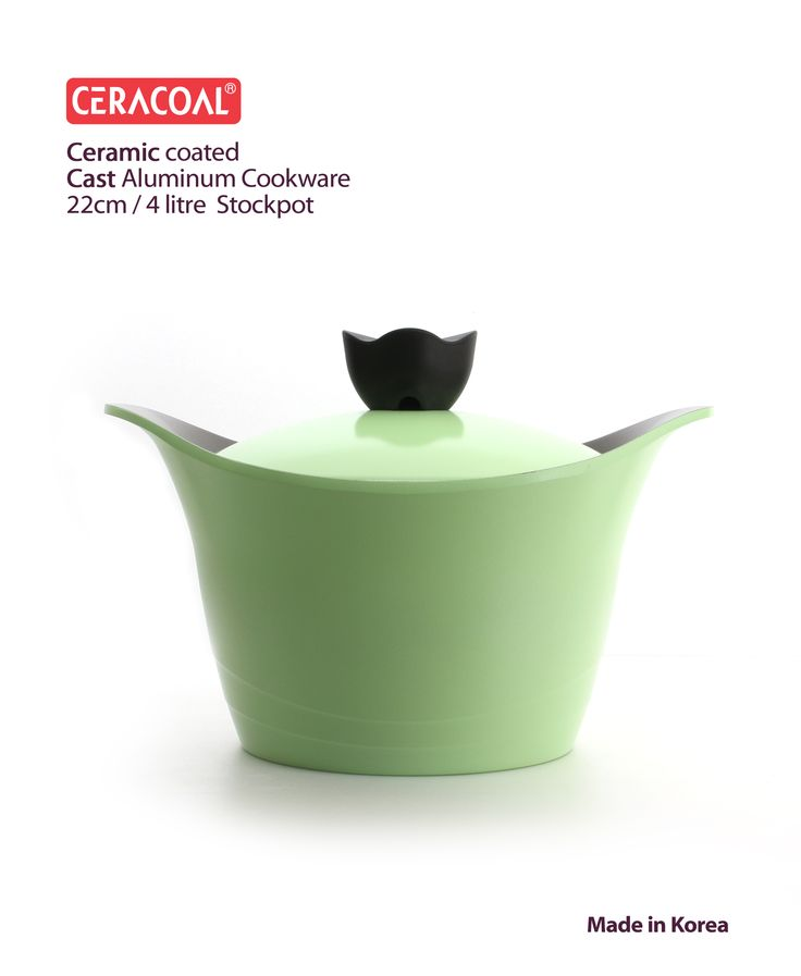 CERACOAL - Imfini Stockpot 22cm & 4litre | Eco-friendly nonstick ceramic coating