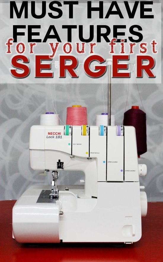 Must have features for your #1 serger: let me help you choosing your very first serger, here's all you need to know when you finally decide you need to upgrade your sewings! Guest posted on SoSewEasy.com by SergerPepper.com