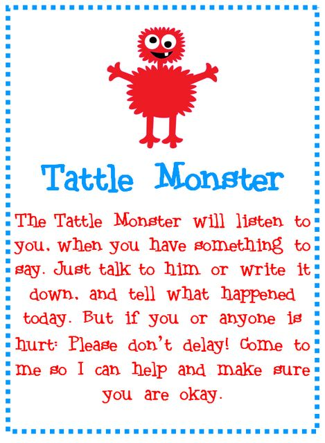 Tattle Monster Poem