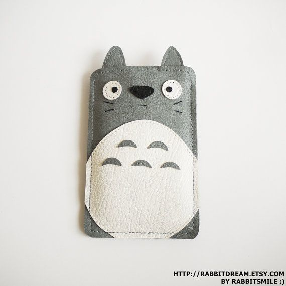iPhone 4 Case, iPhone 4S Case, iPhone 4 Cover, iPhone 3gs case, iphone 3 case, Sleeve, Faux Leather Soft Case - Totoro on Etsy, $20.00