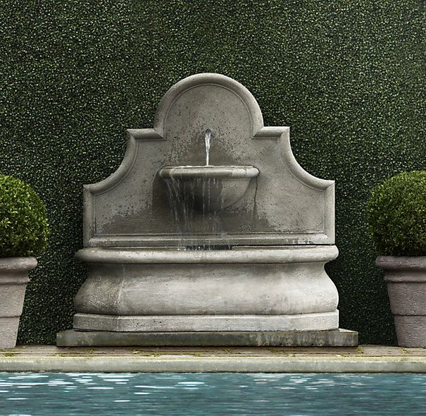 Andalusia Wall Fountain. RH. outdoor living area. Not sure where I'll put it, but it'll be there.