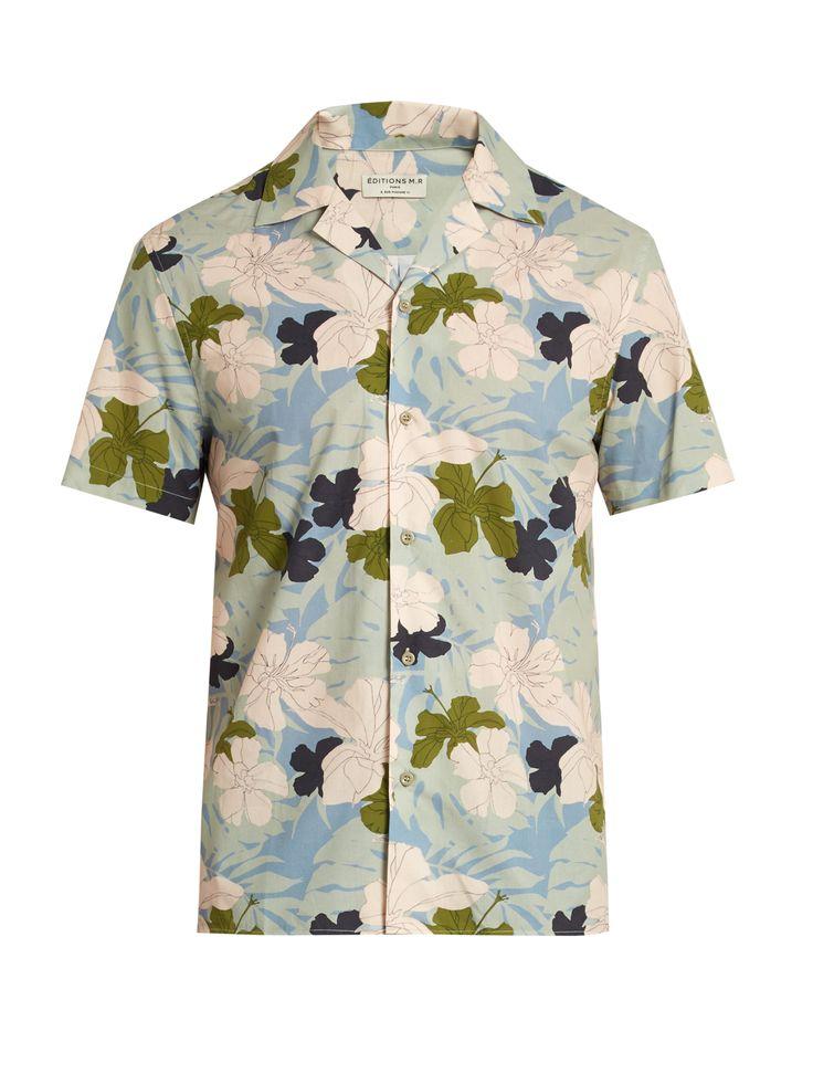 Hibiscus-print brushed-cotton shirt  | Éditions M.R | MATCHESFASHION.COM UK