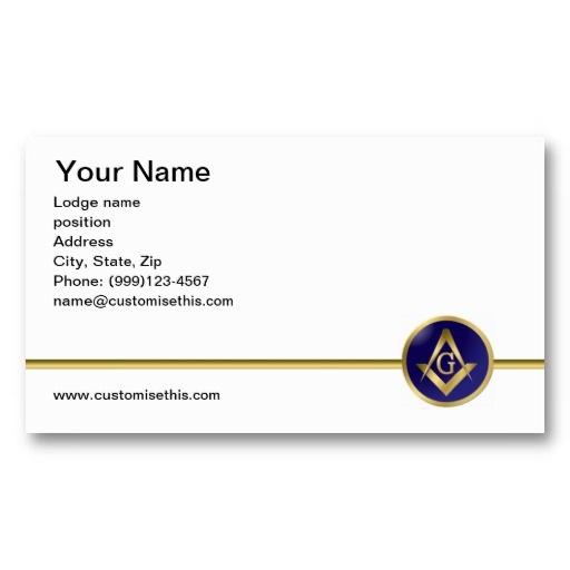 1000 images about freemason masonic business cards for Freemason business cards