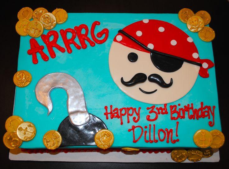 Pirate Sheet Cake #SweetEs #bakeshop #birthdaycake #kidsbirthdaycake #cake #sheetcake #piratethemed