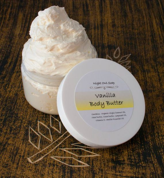 Vanilla Body Butter All Natural by NightOwlSoap on Etsy