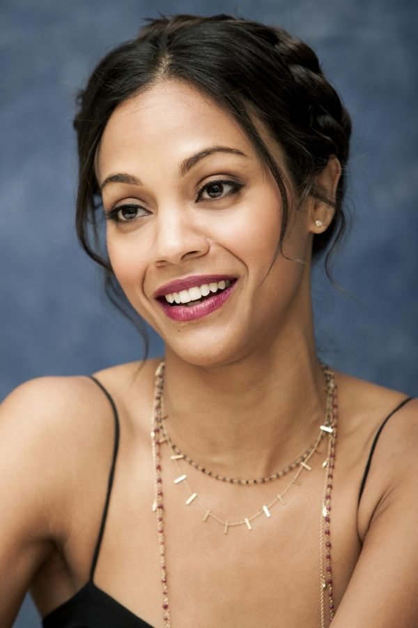 Zoe Saldana braided updo...pretty!