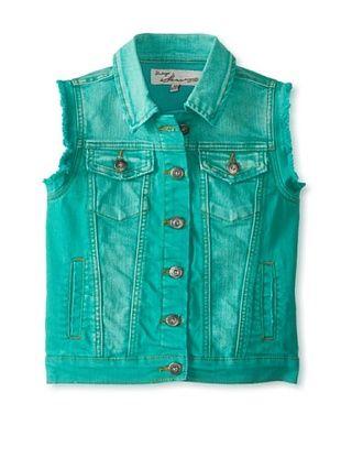 71% OFF Vintage Havana Girl's 7-16 Denim Vest with American Flag (Green)