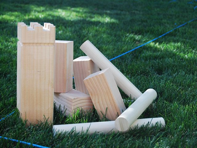 KUBB  at a great price! great river trip game a fun family outdoor game by WillowHeights on Etsy, $45