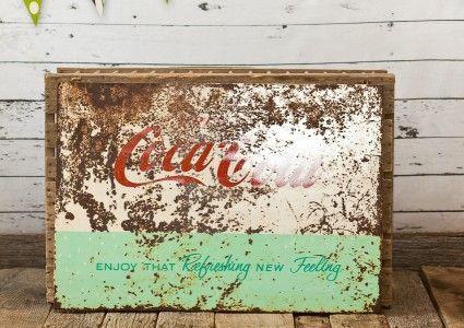 Vintage Wedding and Photography Props Antique Coca Cola Coke 50s Sign vintagepartyprops.com Louisville Kentucky
