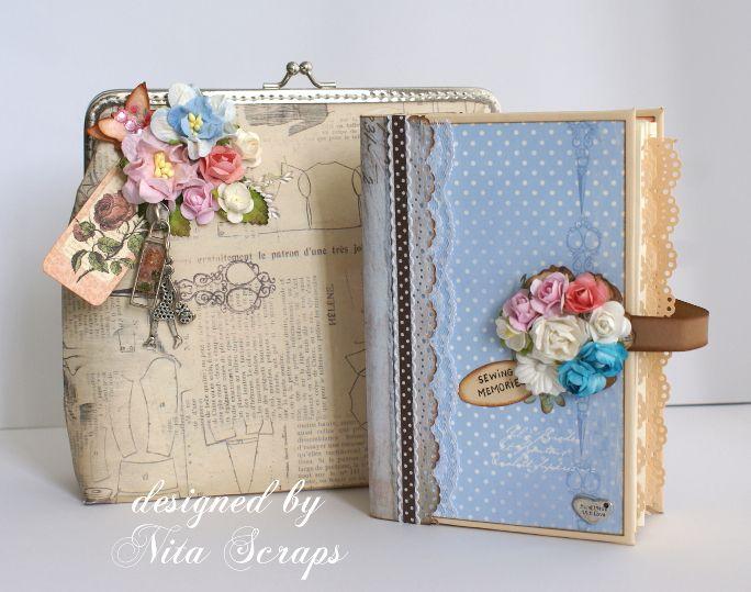Bolsa de papel com mini-album realizada pela Nita Scraps - Desafio Mensal #02