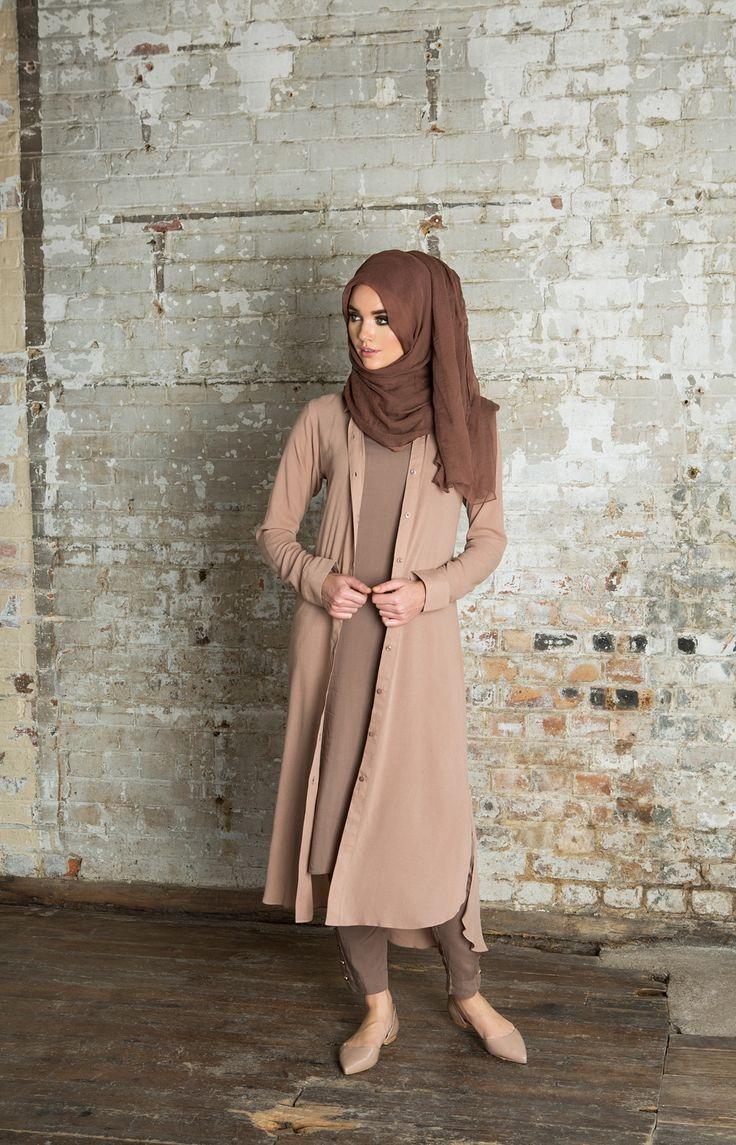 Hijab Fashion 2016/2017: Shirt Dress Pinky Nude | Aab                                                                                                                                                                                 Plus