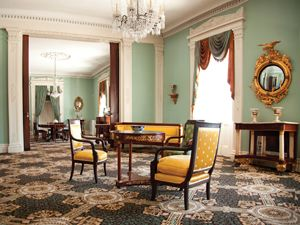 greek revival parlor at bartow-pell mansion museum | new house out
