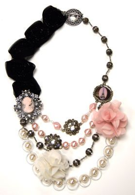 Marie's Cameo Necklace - make your own with supplies from www.Michaels.com.