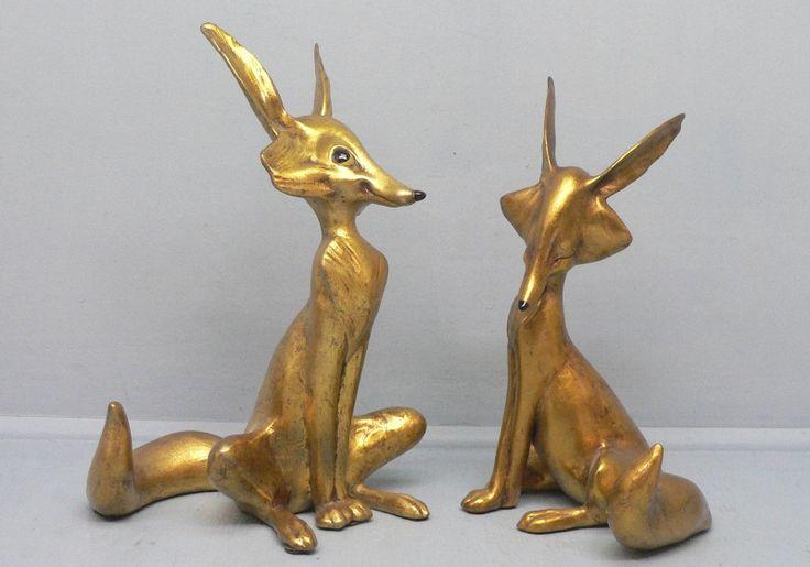 Freeman McFarlin Г-н & г-жа Фокс в золото  Дизайн Энтони  # 144 & # 145  9 3/4 и 9 дюймов