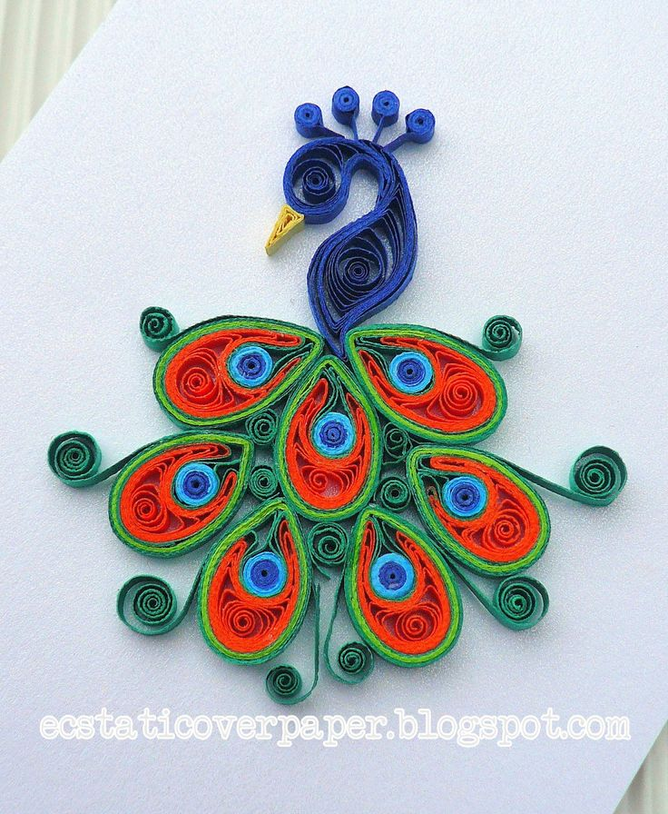 467 best peacock quilled images on pinterest - Cock designing ...