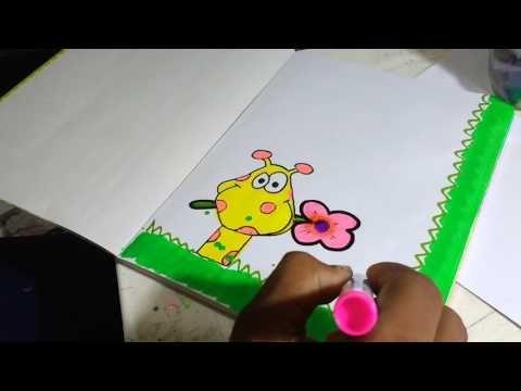 Marcando cuaderno de Inglés. Con dibujo de cebra. Para niña - YouTube