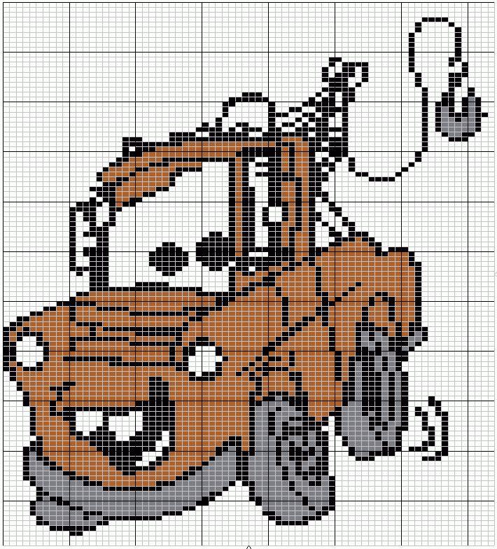 telpatroon 'takel' uit 'Cars'  (73x107)