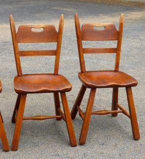 4 Cushman Colonial Creations Maple Dining Chairs 4125 No Reserve