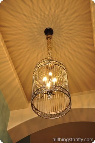 Make a birdcage chandelier!